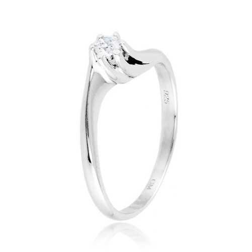 Anello solitario in argento e zircone Ct. 0,10 Zoppi Gioielli bijoux Anelli Donna CM015AG