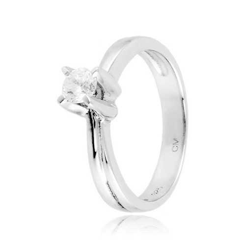 Anello solitario argento e zircone Ct. 0,25 Zoppi Gioielli bijoux Anelli Donna CM032AG