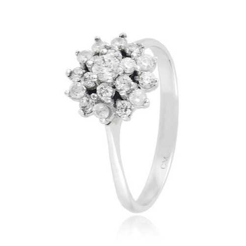 Anello donna in argento e zirconi Ct. 0,46 Zoppi Gioielli bijoux Anelli Donna CM054AG