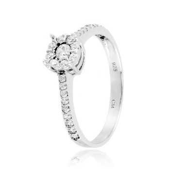 Anello solitario argento e zirconi Ct. 0,33 Zoppi Gioielli bijoux Anelli Donna CM036AG