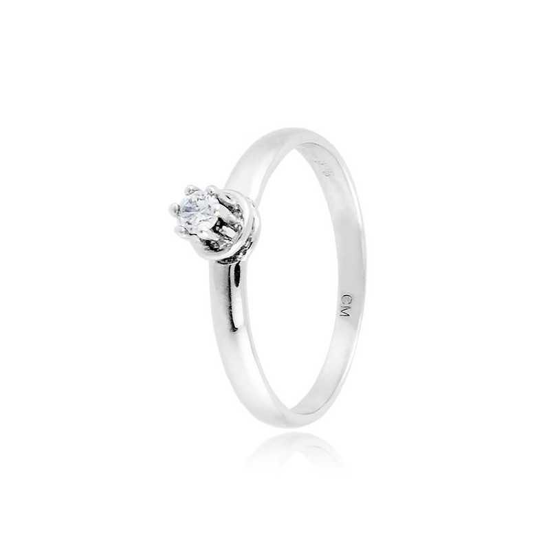 Anello solitario in argento con zircone Ct. 0,08 Zoppi Gioielli bijoux Anelli Donna CM011AG