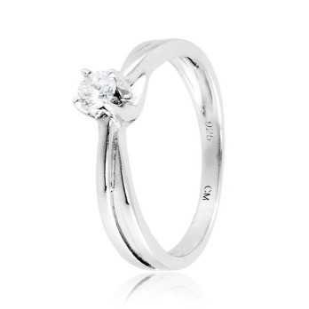 Anello solitario in argento e zircone Ct. 0,14Zoppi Gioielli - Multibrand Anelli Donna 55,00€ CM037AG