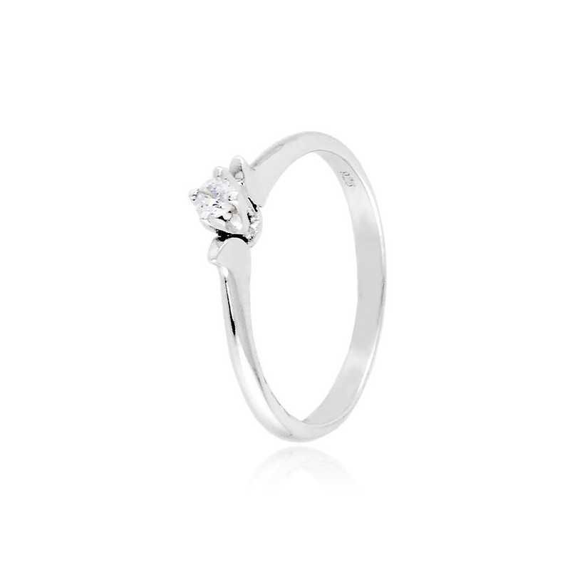 Anello solitario argento e zircone Ct. 0,07Zoppi Gioielli - Multibrand Anelli Donna 39,00€ CM008AG