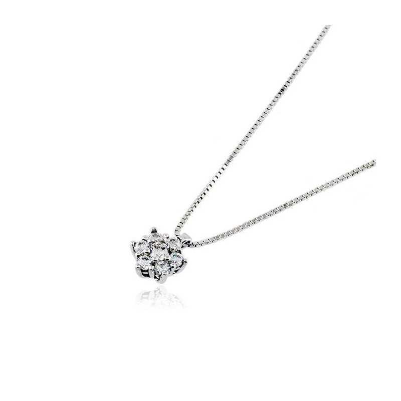 Collana puntoluce in argento e zirconi Ct. 0,25 Zoppi Gioielli bijoux Collane Donna CM091AG