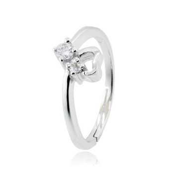 Anello con cuore in argento e pietre I Think Jewels Anelli Donna ITJ-AN2AG
