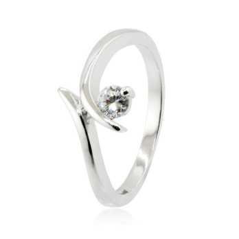 Anello solitario in argento e pietra zircone Zoppi Gioielli bijoux Anelli Donna ITJ-AN3AG
