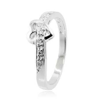 Anello cuore in argento e pietre zirconi Zoppi Gioielli bijoux Anelli Donna ITJ-AN4AG