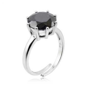 Anello in argento e pietra nera Zoppi Gioielli bijoux Anelli Donna ITJ-AN5AG