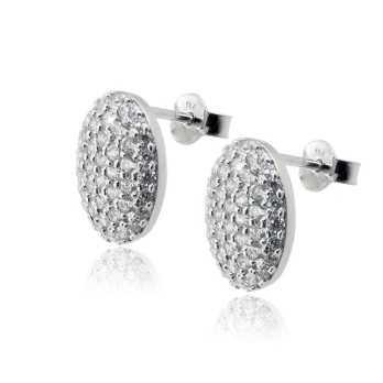 Orecchini toppe ovali a pavè Zoppi Gioielli bijoux Orecchini Donna ITJ-OR6AG