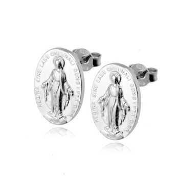 Orecchini madonna miracolosa in argento Alexia Gioielli Orecchini religiosi RB-ORR13AG