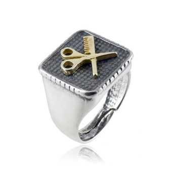 Anello in argento da parrucchiere Zoppi Gioielli bijoux Anelli Uomo ANU35AGP