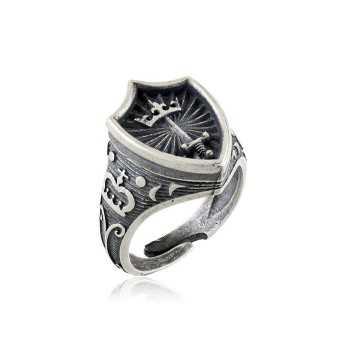 Anello Medievale con scudo in argento Zoppi Gioielli bijoux Anelli Uomo AN31AGM