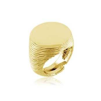 Anello da mignolo tondo argento dorato Alexia Gioielli Anelli Uomo RB-ANM32AGO