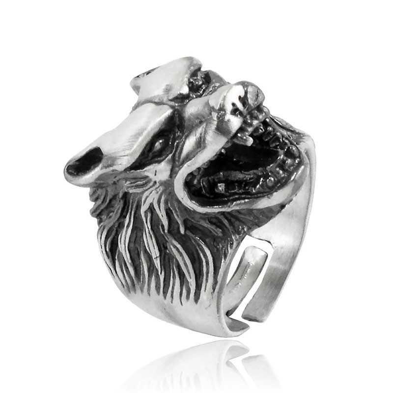 Anello testa di lupo in argento Alexia Gioielli Anelli Uomo RB-AG56ANL