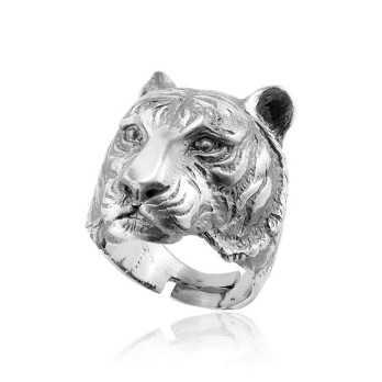 Anello testa di tigre in argento Alexia Gioielli Anelli Uomo RB-AG56AN
