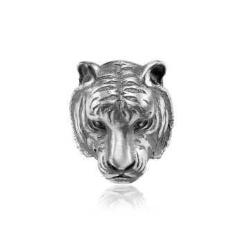 Anello testa di tigre in argento