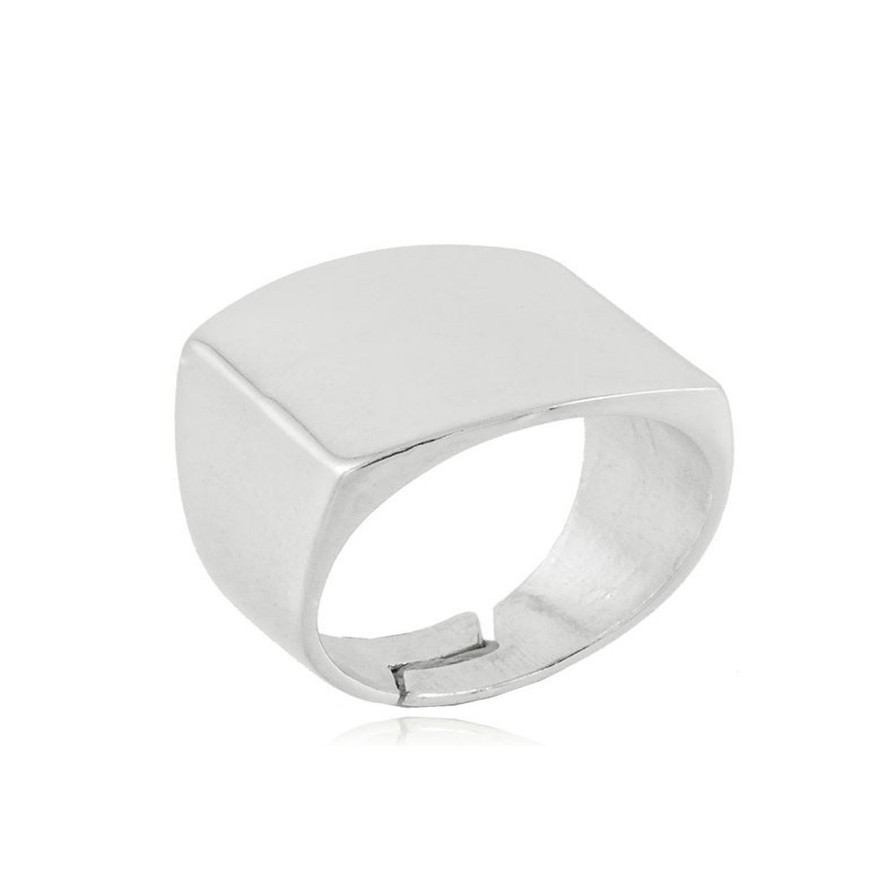 Anello a fascia quadrata in argento Alexia Gioielli Home RB-AN35AGF