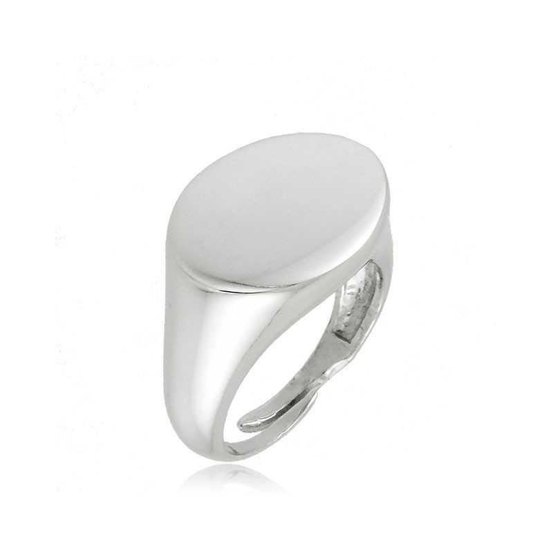 Anello da mignolo in argento ovale Alexia Gioielli Home RB-ANM20AGO