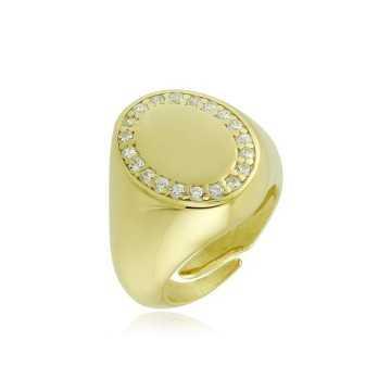 Anello da mignolo ovale in argento dorato e pietreAlexia Gioielli Home 38,00€ RB-AN35AGO