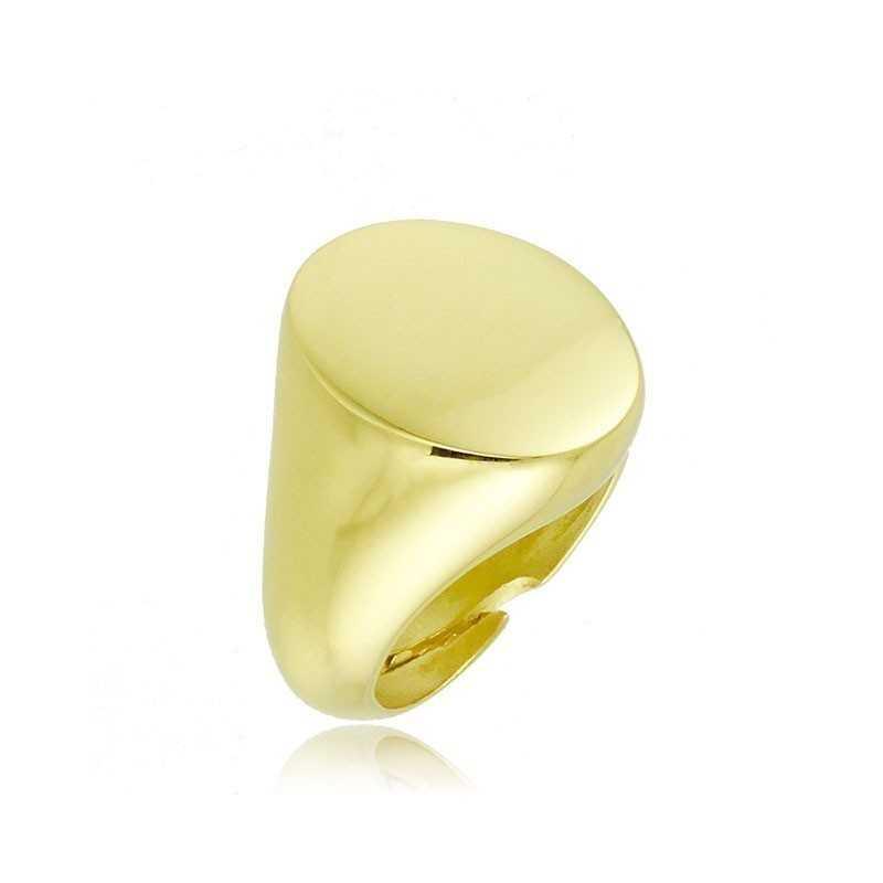 Anello da mignolo ovale in argento dorato Alexia Gioielli Home RB-AN21AGO