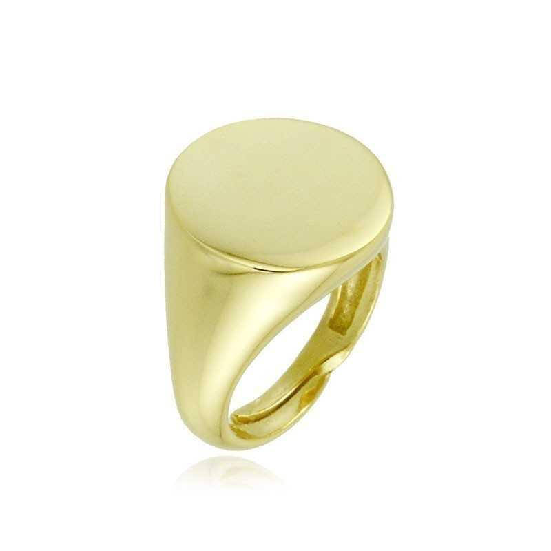 Anello da mignolo tondo in argento dorato Alexia Gioielli Home RB-AN21AG