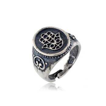 Anello antichizzato mano di Fatima Anelli religiosi AN135AG