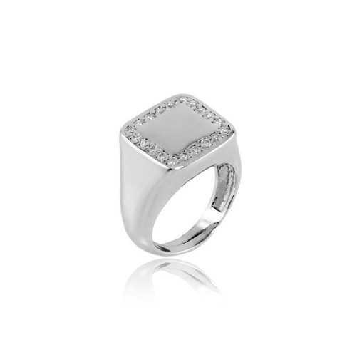 Anello da mignolo quadrato in argento e pietre Alexia Gioielli Home RB-AN31ARQ
