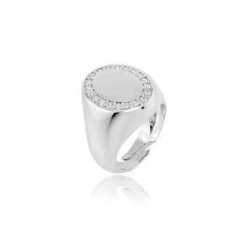 Anello da mignolo ovale in argento e pietre Alexia Gioielli Home RB-AN35ARO
