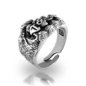 Anello gotico in argento