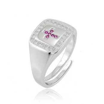 Anello in argento con croce a pietre rossePuca Jewels Anelli Uomo 30,00€ PJ-AG14ANC2
