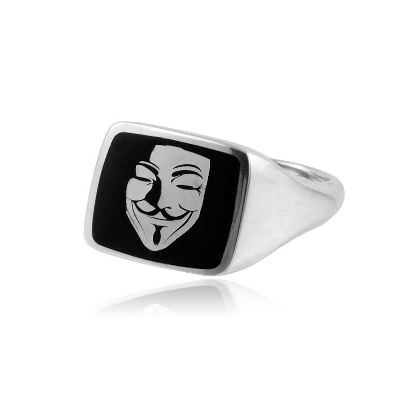 Anello in argento con Anonymous Alexia Gioielli Anelli Uomo RB-AG52AU