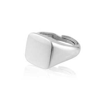 Anello da mignolo quadrato in argento