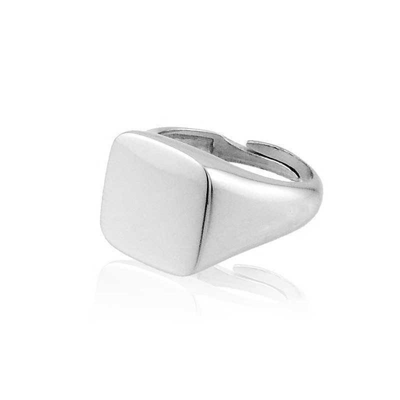 Anello da mignolo quadrato in argento Alexia Gioielli Home RB-AN18AGQ