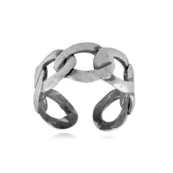Anello a catena in argento 925