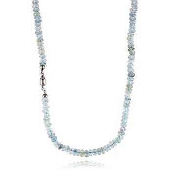 Collana di acquamarina con susta in oro  Collane perle CLA151AU5