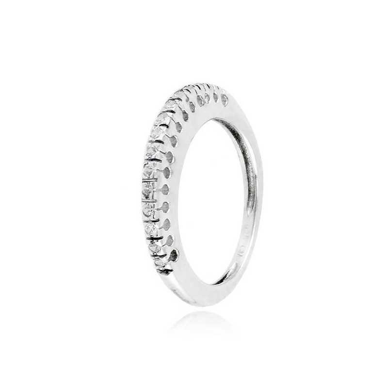 Anello riviera in argento con zirconi Ct. 0,23Zoppi Gioielli bijoux Anelli Donna 60,00€ CM038AG