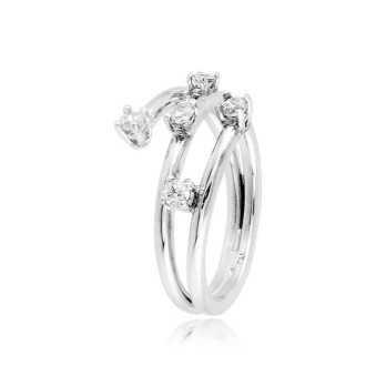 Anello donna in argento con zirconi Ct. 0,25 Zoppi Gioielli bijoux Anelli Donna CM058AG
