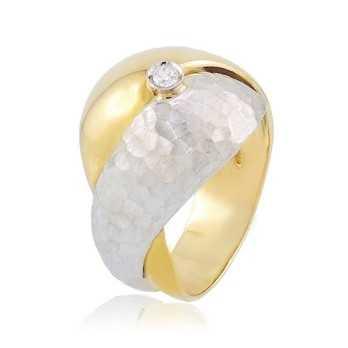Anello donna in oro bianco e gialloZoppi Gioielli Anelli Donna 545,00€ AU-AND122