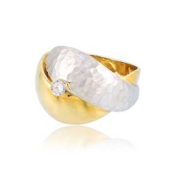 Anello donna in oro bianco e giallo Zoppi Gioielli jewelry Anelli Donna AU-AND122