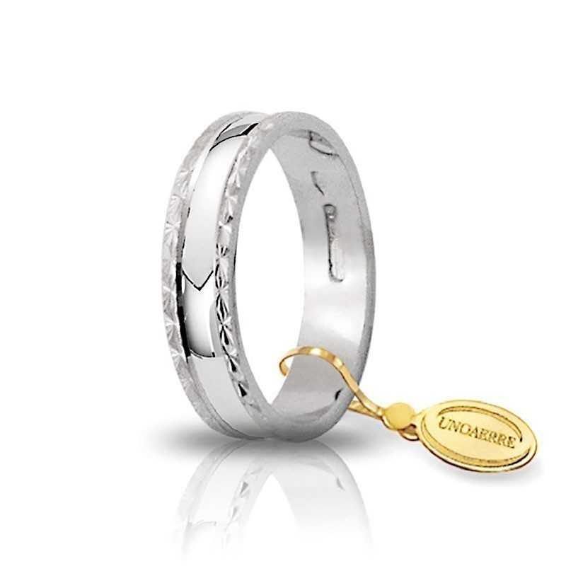 Fedina unoaerre in oro bianco AF235B Unoaerre Italian jewellery Fedine in oro 1R-AF235B