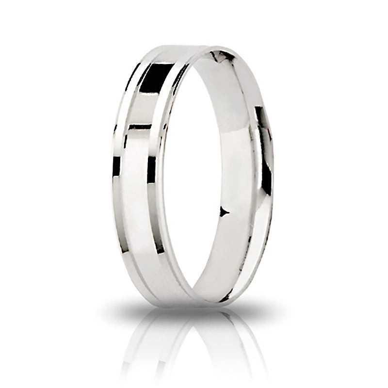 Fedina unoaerre comoda in argento AF305 Unoaerre Silver jewellery Fedine in Argento 1R-AF305