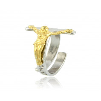 Anello con Cristo argento...