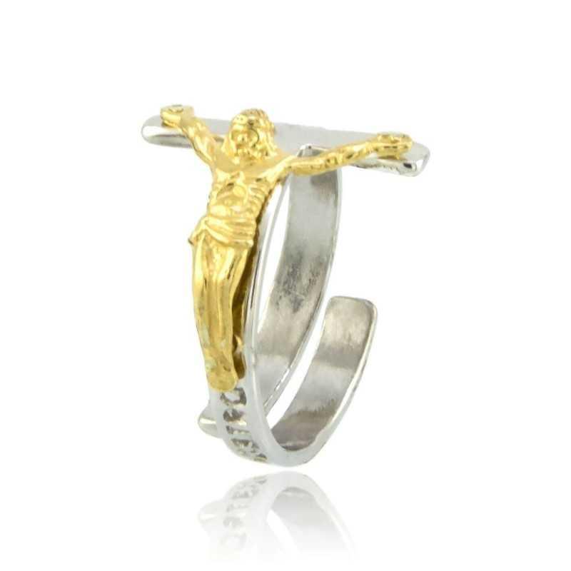 Anello con Cristo argento bicoloreAlexia Gioielli Anelli religiosi 22,00€ RB-AG1704ANR