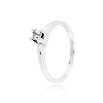 Anello solitario in argento con zircone Ct. 0,11 Zoppi Gioielli bijoux Anelli Donna CM016AG