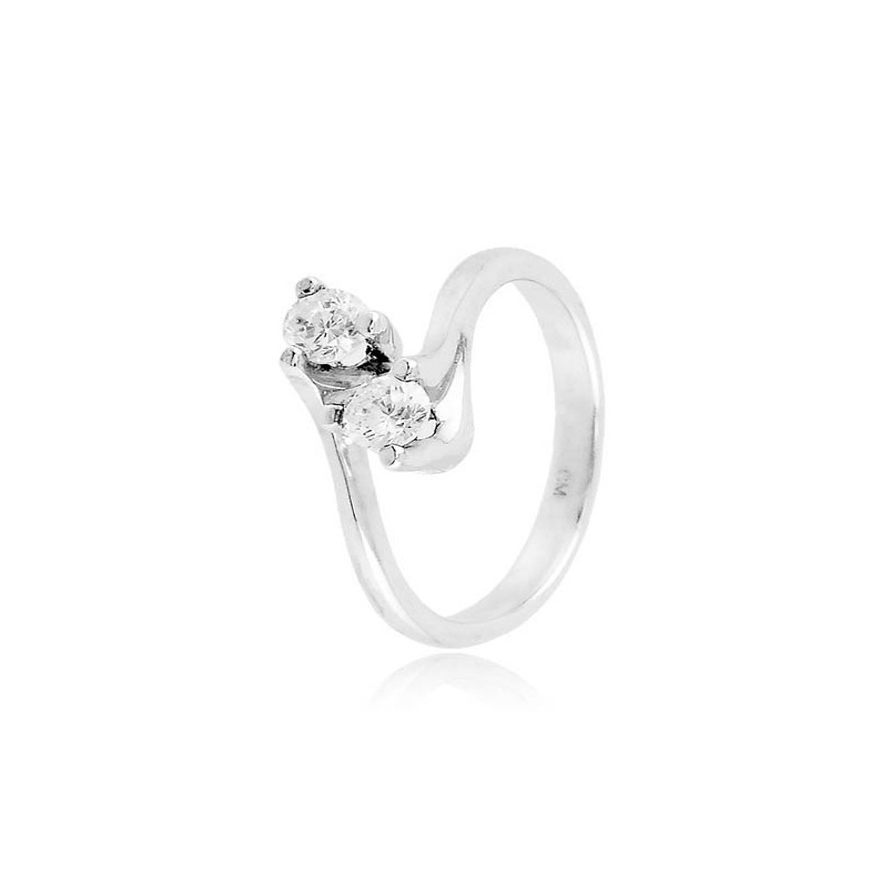 Anello Bilogy in argento con zirconi Ct. 0,36 Zoppi Gioielli bijoux Anelli Donna CM034AG