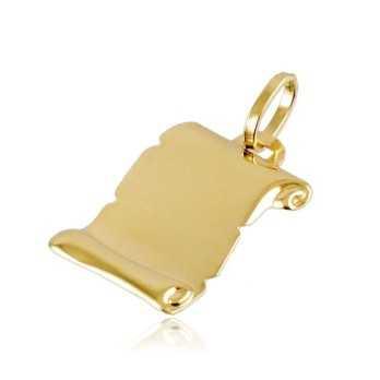 Medaglia pergamena in oro giallo Zoppi Gioielli jewelry Ciondoli MD1X260AU