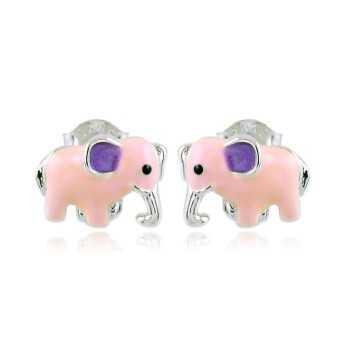 Orecchini bimba in argento con elefanti