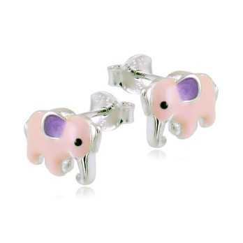 Orecchini bimba in argento con elefanti Le Meraviglie Orecchini Kids ORAAGBB33