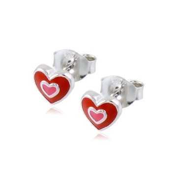 Orecchini bimba in argento con cuore Le Meraviglie Orecchini Kids ORAAGBB35
