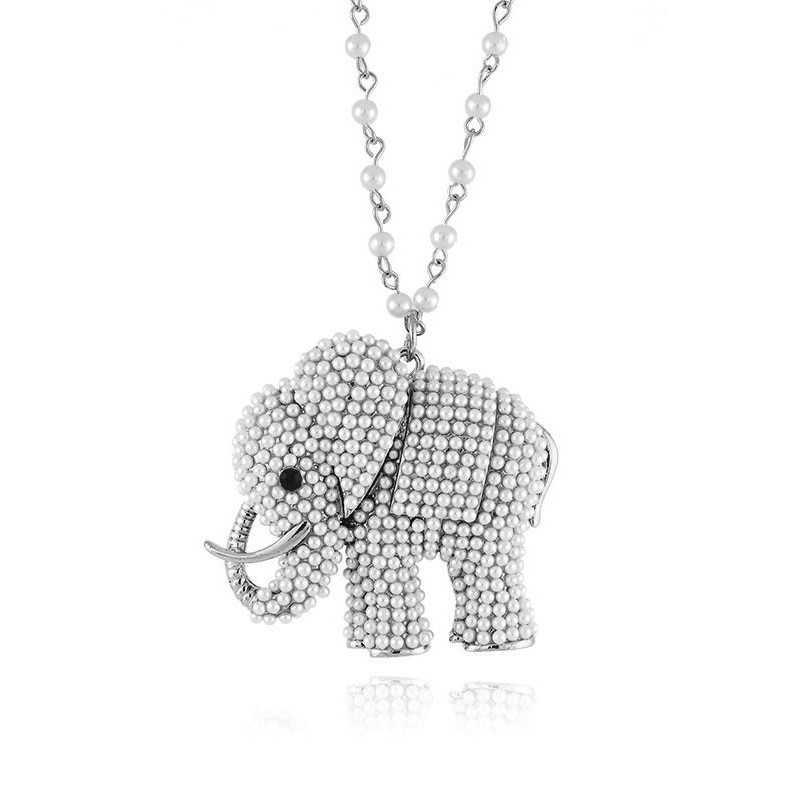 Collana in bronzo con elefante e perle Zoppi Gioielli bijoux Promozioni GD-CL10EL